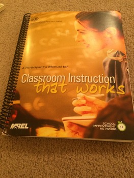 Classroom Instruction That Works Participant Guide