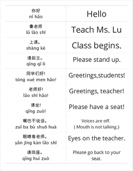 Classroom Instructional Language in Mandarin K-12