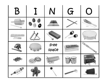 Classroom Instrument BINGO Game