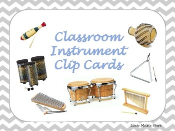 Classroom Instrument Clip Cards