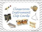 Classroom Instrument Clip Cards