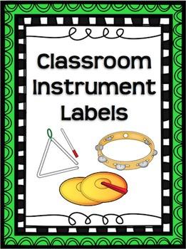 Classroom Instrument Labels
