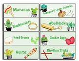 Classroom Instrument Labels- Cactus Theme