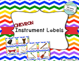 Classroom Instrument Labels: Chevron
