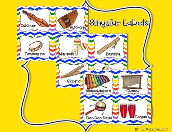 Classroom Instrument Labels: Chevron