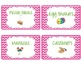 Classroom Instrument Labels with Chevron Backgrounds-Pink,