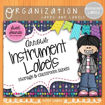 Classroom Instrument Word Wall Cards and Labels {Arrows}