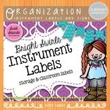 Classroom Instruments - Music Word Wall - Bright Swirls