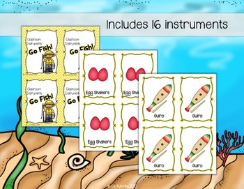 Classroom Instruments Go Fish Card Game