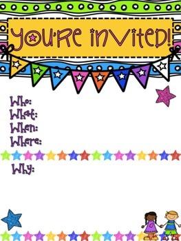 Classroom Invitations *Editable*