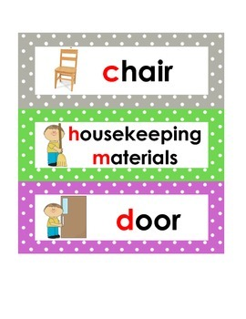 Classroom Item Labels