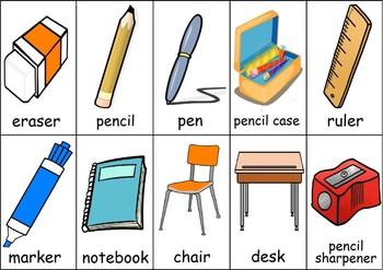 Classroom Items Flashcards
