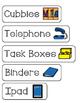 Classroom Items - Labels