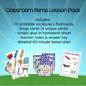 Classroom Items Lesson Pack