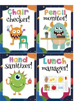 Classroom JOBS Monster Theme