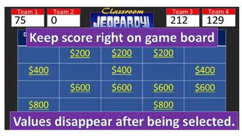 Classroom Jeopardy: Harry Potter & The Order of the Phoenix