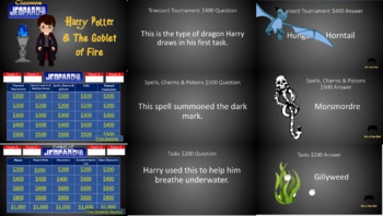 Classroom Jeopardy: Harry Potter & the Goblet of Fire