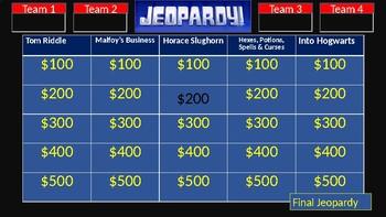 Classroom Jeopardy: Harry Potter & the Half-Blood Prince