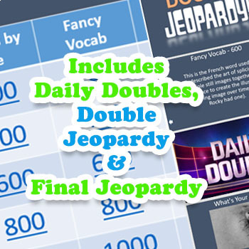 Classroom Jeopardy! Slideshow for ANY Content and ANY Subject!