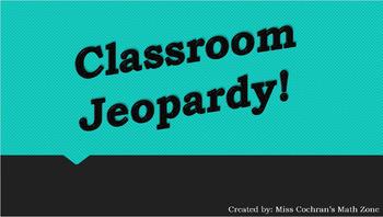 Classroom Jeopardy Template
