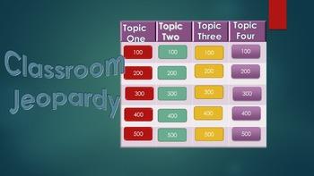 Classroom Jeopardy Template Bundle