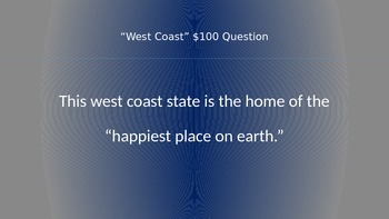 Jeopardy USA 50 States (52 questions)