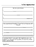Classroom Job Application