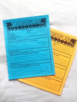Classroom Job Application & Résumé!
