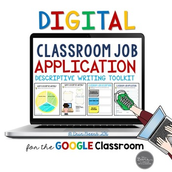 Classroom Job Application & Descriptive Writing Toolkit for Google Slides