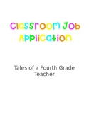 Classroom Job Application (EDITABLE)