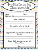 Classroom Job Application Form