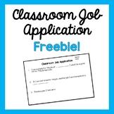 Classroom Job Application- Freebie!