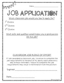 Classroom Job Application Freebie