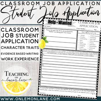Classroom Jobs/ Job Application (Help Wanted) {Classroom Economy}