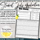 Classroom Jobs/ Job Application (Help Wanted) {Classroom Economy}