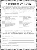 Classroom Job Application & Signs { Chevron }