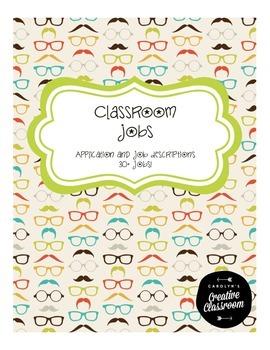 Classroom Job Application and Job Descriptions w/ 30+ Jobs!