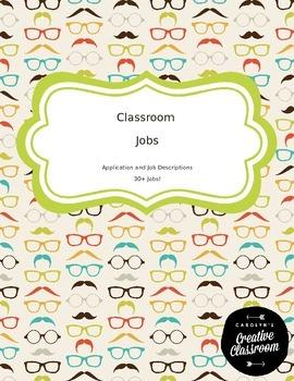 Classroom Job Application and Job Descriptions w/ 30+ Jobs!-editable version