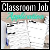 Classroom Job Application for High School