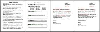 Classroom Job Application with Job Descriptions and Letters