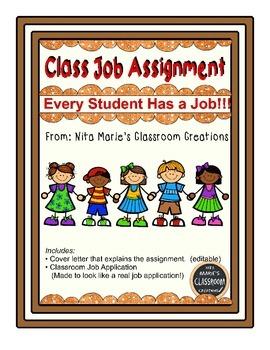 Classroom Job Application Assignment