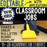 Classroom Jobs for Students | Editable