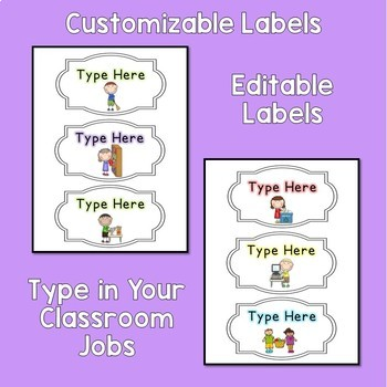 Classroom Job Board - Editable - Easy to Use - Freebie