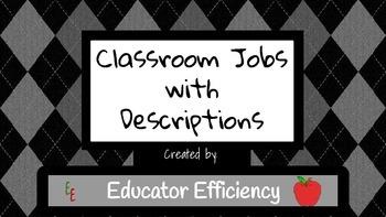 Classroom Job Board with Descriptions