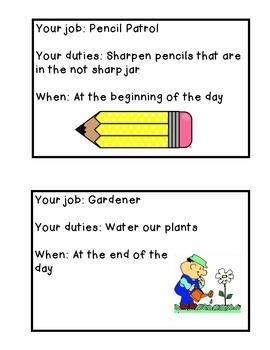 Classroom Job Book