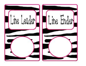 Classroom Job Bulletin Board- Zebra print and bright colors (jungle)