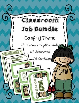 Classroom Job Bundle: Camping Theme