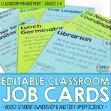 Editable Classroom Job Cards