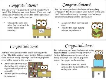 Classroom Job Cards