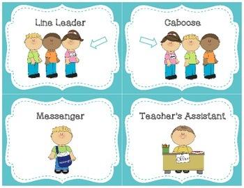 Classroom Job Cards  [Back to School]